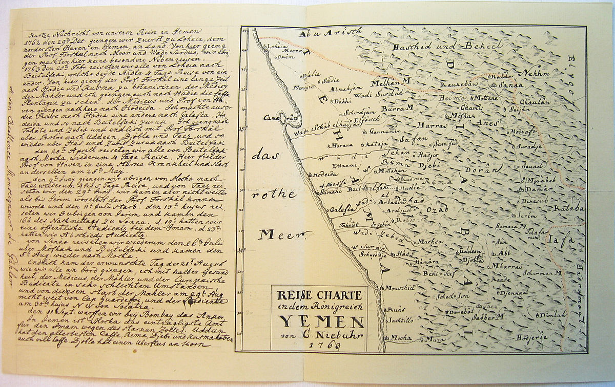 File Map Of Yemen By Niebuhr Jpg Wikimedia Commons