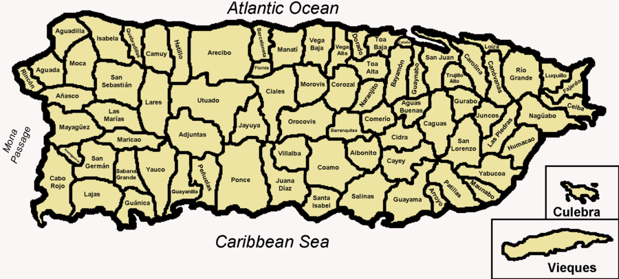 Map Of Towns In Puerto Rico MAP - Puerto rico cities towns map