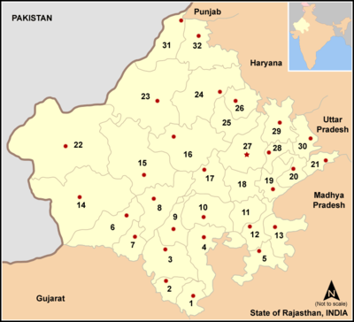 11. Location in Rajasthan