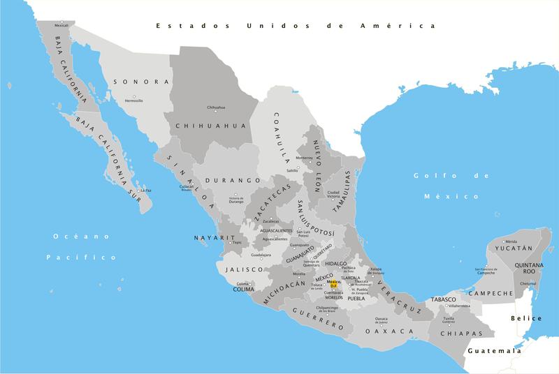regiões mais bonitas do México
