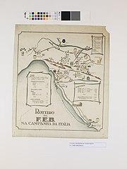 Mapa do Reoteiro da F. E. B. Na Campanha da Itália