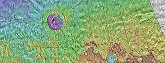 Deuteronilus Mensae - Image: Mapdeuteronilus