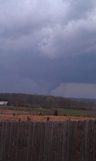 Tornado outbreak of March 2–3, 2012 - View of the EF4 tornado from Memphis, Indiana