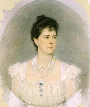 Princess Maria Tenisheva - Portrait of the Princess by Alexander Sokolov (1898)