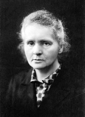 Polish-French physicist-chemist Marie Curie, famous for her pioneering research on radioactivity. Marie Curie c1920.png