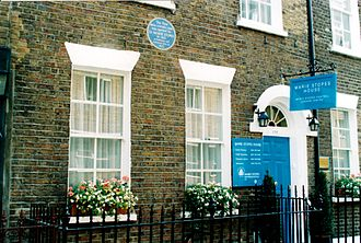 Marie Stopes - Marie Stopes House in Whitfield Street near Tottenham Court Road was Britain's first family planning clinic after moving from its initial location in Holloway in 1925.