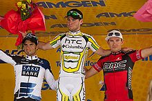 Cavendish celebrates winning the opening stage of the 2010 Tour of  California 7ef7ff0aa