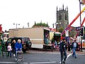 Market Place fair and St Mary's Church, in Ilkeston, Derbyshire 02.jpg