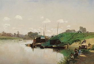 Carmen Thyssen Museum - Image: Martín Rico Ortega A Summer's Day on the Seine