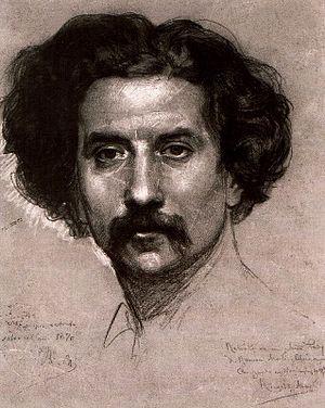 Ramon Martí Alsina - Self-portrait (1870)