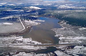 Nevada County, California - Martis Creek Lake and Dam in Nevada County. This picture was actually taken over Placer County, looking north into Nevada County.