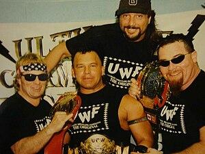 Bruce Hart (wrestler) - Bruce Hart, Jim Neidhart, Marty Jannetty, Chris Chavis (Tatanka) UCW 1997