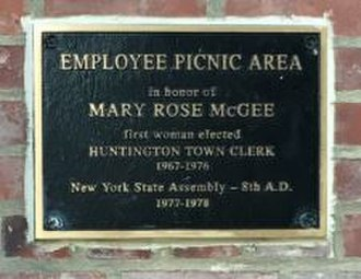 Mary Rose McGee - Mary Rose McGee Commemorative Plaque