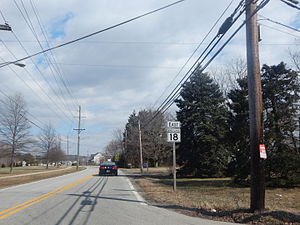 Maryland Route 18 - MD 18 eastbound in Grasonville