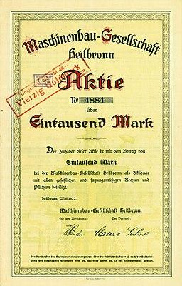 https://upload.wikimedia.org/wikipedia/commons/thumb/7/71/Maschinenbau-Gesellschaft_Heilbronn_1922_1000_Mk.jpg/256px-Maschinenbau-Gesellschaft_Heilbronn_1922_1000_Mk.jpg