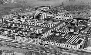 Maschinenfabrik Oerlikon - The Maschinenfabrik Oerlikon factory in Zürich (1930)