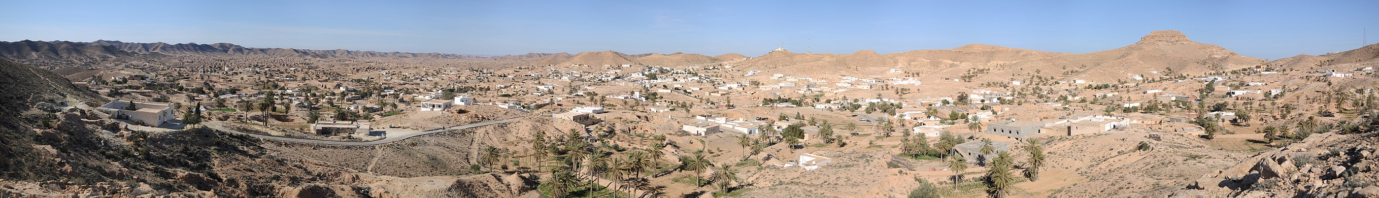 Panorama over Matmata, januar 2011.