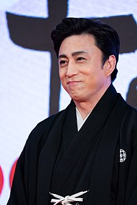 "Matsumoto Koshiro from ""Murder in a Hell of Oil"" at Opening Ceremony of the Tokyo International Film Festival 2019 (49013317093).jpg"