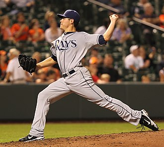 Matt Moore (baseball) - Moore during his Major League debut on September 14, 2011, with the Tampa Bay Rays