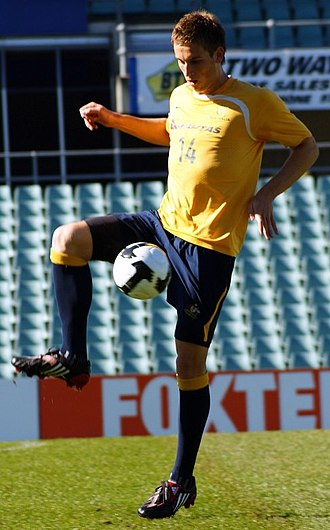 Matthew Spiranovic - Spiranovic during a Socceroos training session