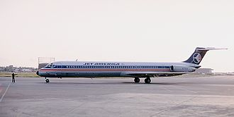 Jet America Airlines - Jet America MD-82 at Long Beach Airport