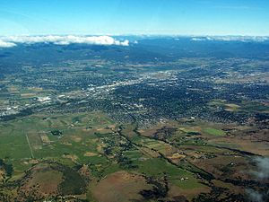 Medford, Oregon - An aerial image of Medford