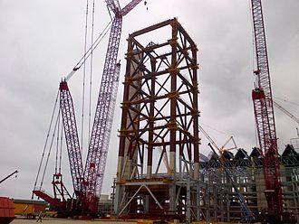 Medupi Power Station - Fabrication of a boiler structure, mid 2014