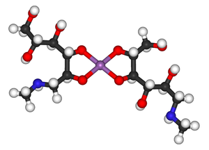 Meglumine antimoniate - Image: Meglumine antimoniate major component 3D