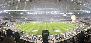 Melbourne Derby (A-League) - A Melbourne Derby match at Etihad Stadium in 2014.