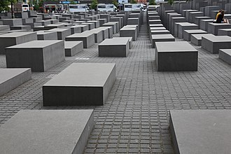 Peter Eisenman - The  Memorial to the Murdered Jews of Europe at the site of the gardens of the former Reich Chancellery in Berlin.