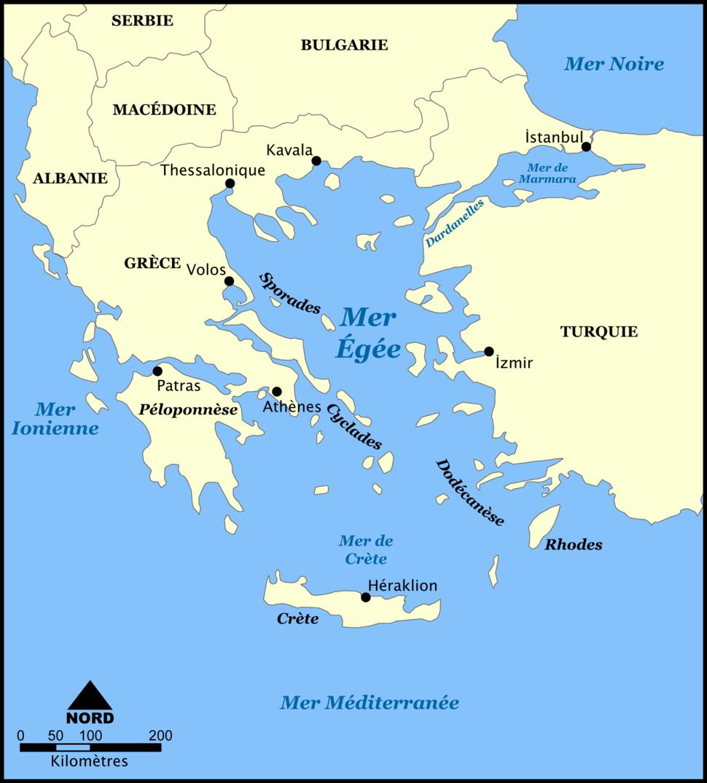 Mer Egée (carte)