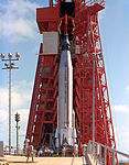 Mercury-Atlas Rocket on the Launch Pad (9460620664).jpg