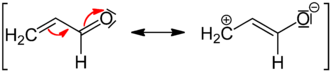 Mesomeric effect - –M effect of a carbonyl group in acrolein