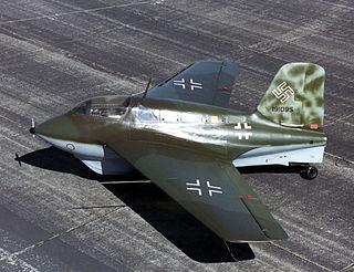 Messerschmitt Me 163 Komet Rocket interceptor developed by Messerschmitt late in World War II