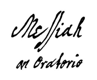 Messiah (Handel) - Title page of Handel's autograph score