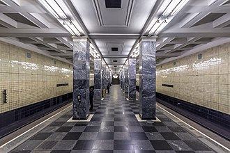 Moscow Metro - Sokolniki station. Opened in 1935 (the first stage)