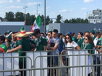 Football in Mexico - National football team fans at the 2018 FIFA World Cup in Russia