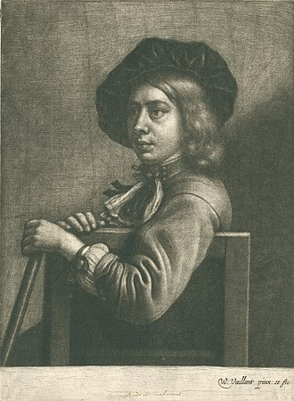 Wallerant Vaillant - Young boy, possibly the brother of the artist, Mezzotint