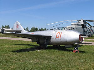Mikoyan-Gurevich MiG-9 - Red 01 at the Central Air Force Museum, Monino, Russia