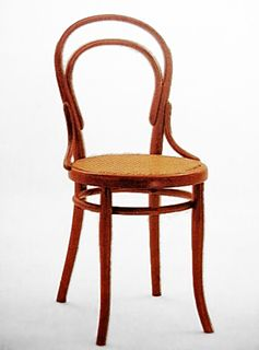 No. 14 chair the most famous chair made by the Thonet chair company