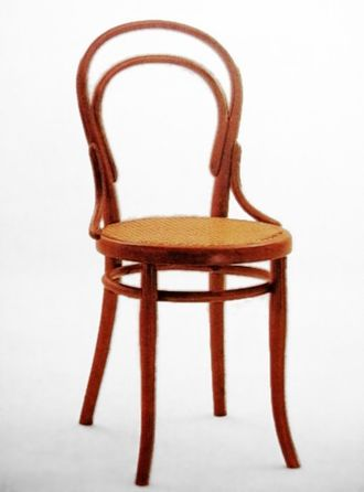 Steam bending - Bentwood chair by Michael Thonet