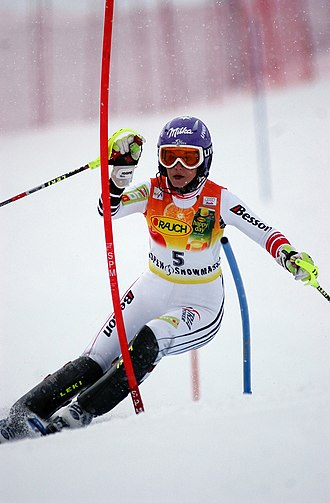 Michaela Kirchgasser - Kirchgasser at Aspen in November 2006