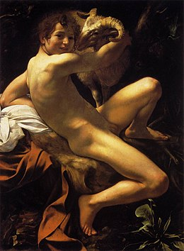 Michelangelo Merisi da Caravaggio, Saint John the Baptist (Youth with a Ram) (c. 1602, WGA04111).jpg