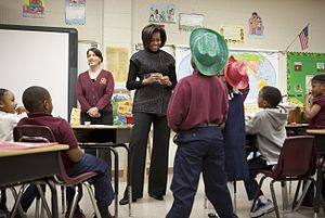 English: First Lady Michelle Obama visits seco...