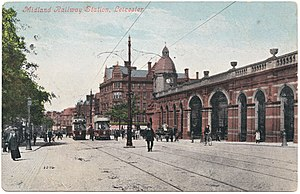 Leicester railway station - Leicester station in the 1900s