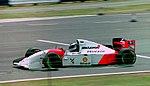 Mika Hakkinen - Mclaren MP4-9 at the 1994 British Grand Prix (31697599654).jpg