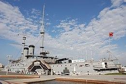 三笠公園に保存されている戦艦三笠