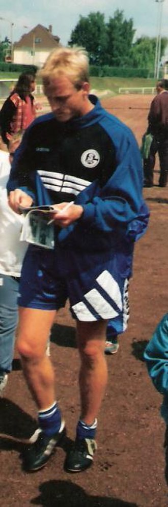 Mike Büskens - Büskens in Schalke 04 colours in July 1996