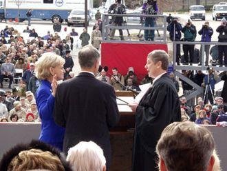 Bev Perdue - Image: Mike Easley inauguration 4