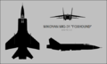 Mikoyan MiG-31 three-view silhouette.png